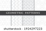 set of geometric seamless... | Shutterstock .eps vector #1924297223