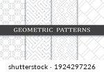 set of geometric seamless... | Shutterstock .eps vector #1924297226