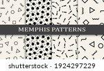 set of memphis style seamless... | Shutterstock .eps vector #1924297229