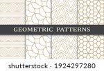 set of geometric seamless... | Shutterstock .eps vector #1924297280