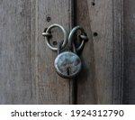 Close Up Of Old Rusty Padlock...