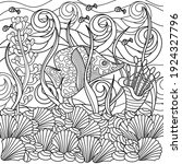 coloring book for adults  ... | Shutterstock .eps vector #1924327796