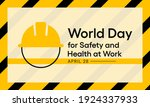 world day for safety and health ... | Shutterstock .eps vector #1924337933