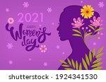 2021 happy women's day  purple... | Shutterstock .eps vector #1924341530