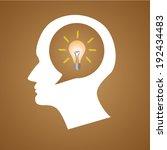 thinking head idea bulb vector...   Shutterstock .eps vector #192434483