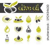 olive oil icon set | Shutterstock .eps vector #192434630