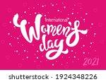 international women's day text... | Shutterstock .eps vector #1924348226