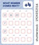 math worksheet practice print... | Shutterstock .eps vector #1924352516