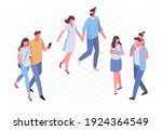 different isomeric people... | Shutterstock .eps vector #1924364549