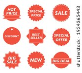 tags set. vector badges and... | Shutterstock .eps vector #1924365443