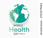 world health day is a global... | Shutterstock .eps vector #1924379063
