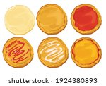 dough pizza set  making about...   Shutterstock .eps vector #1924380893