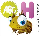h is for horned frog   Shutterstock .eps vector #192438269