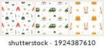 set of seamless patterns on the ...   Shutterstock .eps vector #1924387610