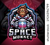 space monkey esport mascot logo ... | Shutterstock .eps vector #1924396799