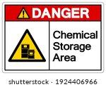 danger chemical storage area...   Shutterstock .eps vector #1924406966