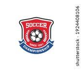 soccer club emblem. football... | Shutterstock .eps vector #1924408106