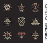 nautical logos templates set.... | Shutterstock .eps vector #1924410599