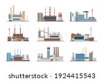 plants and factories set.... | Shutterstock .eps vector #1924415543