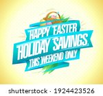happy easter holiday savings...   Shutterstock .eps vector #1924423526