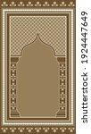 muslim prayer rug. islamic... | Shutterstock .eps vector #1924447649