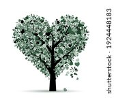 love tree. valentines day card... | Shutterstock .eps vector #1924448183