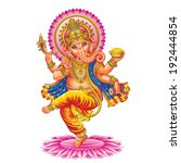 ganesha. the background is... | Shutterstock . vector #192444854