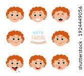 boys facial expressions. body...   Shutterstock .eps vector #1924449056