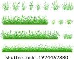 set of hand drawn grass.... | Shutterstock .eps vector #1924462880