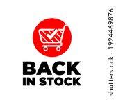 back in stock sign  red banner... | Shutterstock .eps vector #1924469876