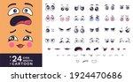 cartoon faces kit. funny...   Shutterstock .eps vector #1924470686