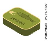 can of sardines isometric view... | Shutterstock .eps vector #1924474229
