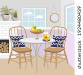 royal collection. dining table... | Shutterstock .eps vector #1924480439