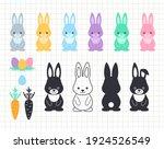 easter bunny clip art. rabbit...   Shutterstock .eps vector #1924526549