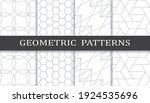 set of geometric seamless... | Shutterstock .eps vector #1924535696