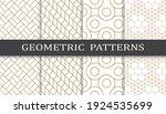 set of geometric seamless... | Shutterstock .eps vector #1924535699