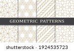 set of geometric seamless... | Shutterstock .eps vector #1924535723