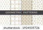set of geometric seamless... | Shutterstock .eps vector #1924535726