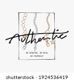 authentic slogan in square... | Shutterstock .eps vector #1924536419