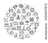travel signs round design... | Shutterstock . vector #1924547873