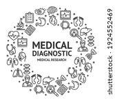 medical diagnostics signs round ...   Shutterstock . vector #1924552469