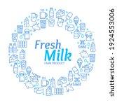 fresh milk dairy signs round...   Shutterstock . vector #1924553006