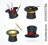 realistic detailed 3d black... | Shutterstock . vector #1924553786