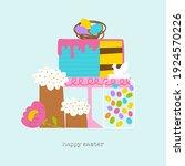 easter brunch sweet greeting...   Shutterstock .eps vector #1924570226