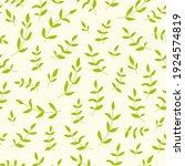 leaf branch pattern. fresh...   Shutterstock .eps vector #1924574819