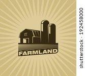 farmland | Shutterstock .eps vector #192458000