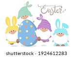 happy easter day greeting card... | Shutterstock .eps vector #1924612283