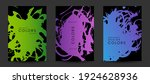 colorful artistic poaters with...   Shutterstock .eps vector #1924628936