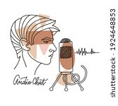 record podcast  radio broadcast ...   Shutterstock .eps vector #1924648853