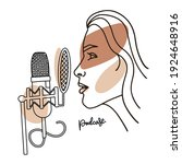 radio host with professional...   Shutterstock .eps vector #1924648916